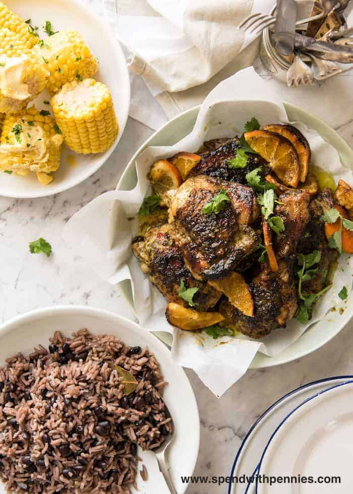 This Cuban Mojo Chicken is marinated in a wicked garlic Cuban Mojo marinade and roasted to juicy perfection. Choose this zesty Cuban chicken for dinner tonight!