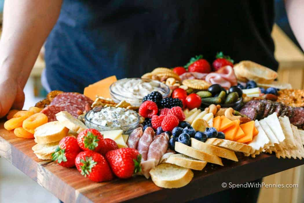 Charcuterie Board being served