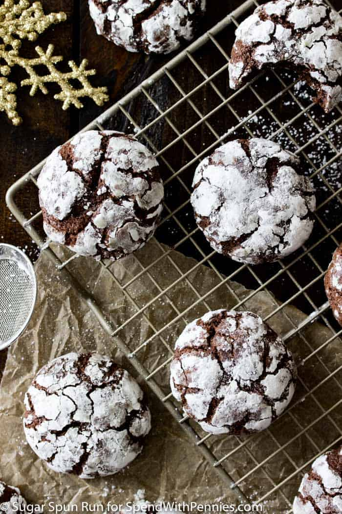 Chocolate Crinkle Cookies are a holiday staple (though they are wonderful any time of year, of course), with their snowy powdered sugar surfaces and their decadent interiors!