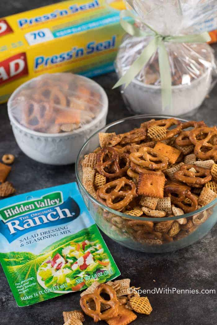 This easy Ranch Party Mix is so surprisingly different, delicious and tangy that it'll be the first thing gone at your next holiday party!