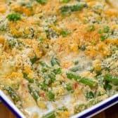 Green Bean Casserole on baking dish