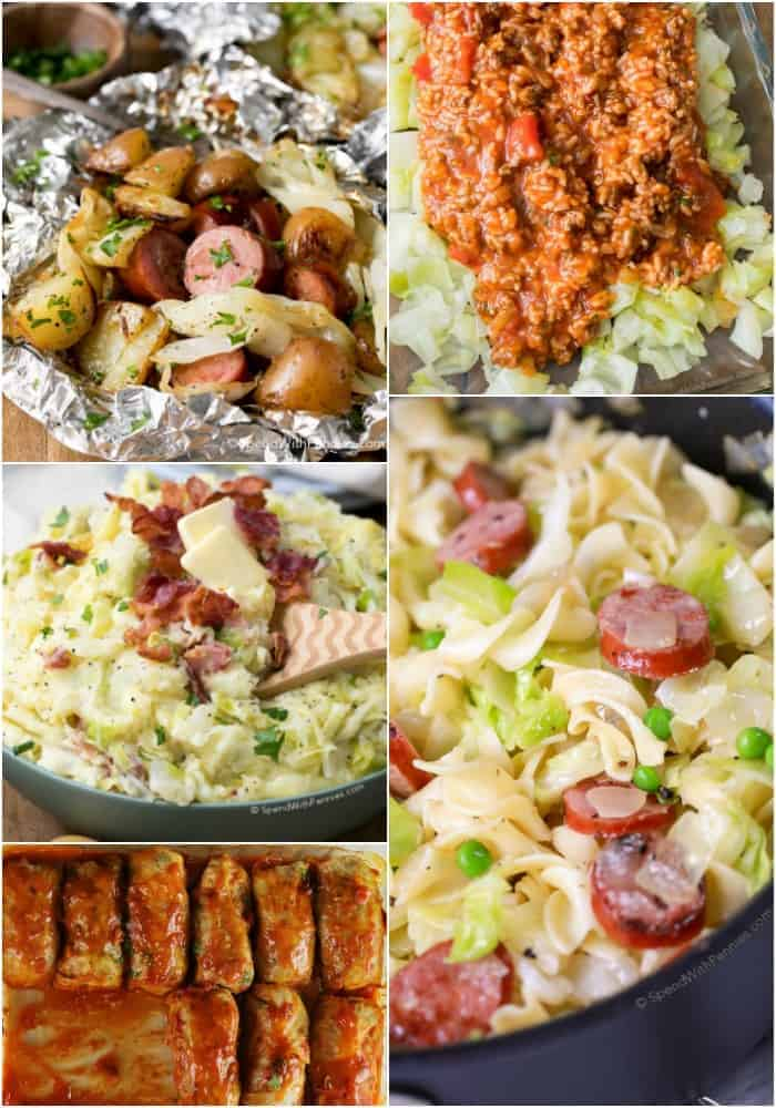 A collection of our favorite cabbage recipes including casseroles, sides, dinners and more!