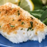 Easy Baked Tilapia with lemon and spinach