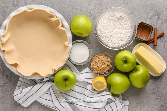 Apple Crumb Pie Ingredients