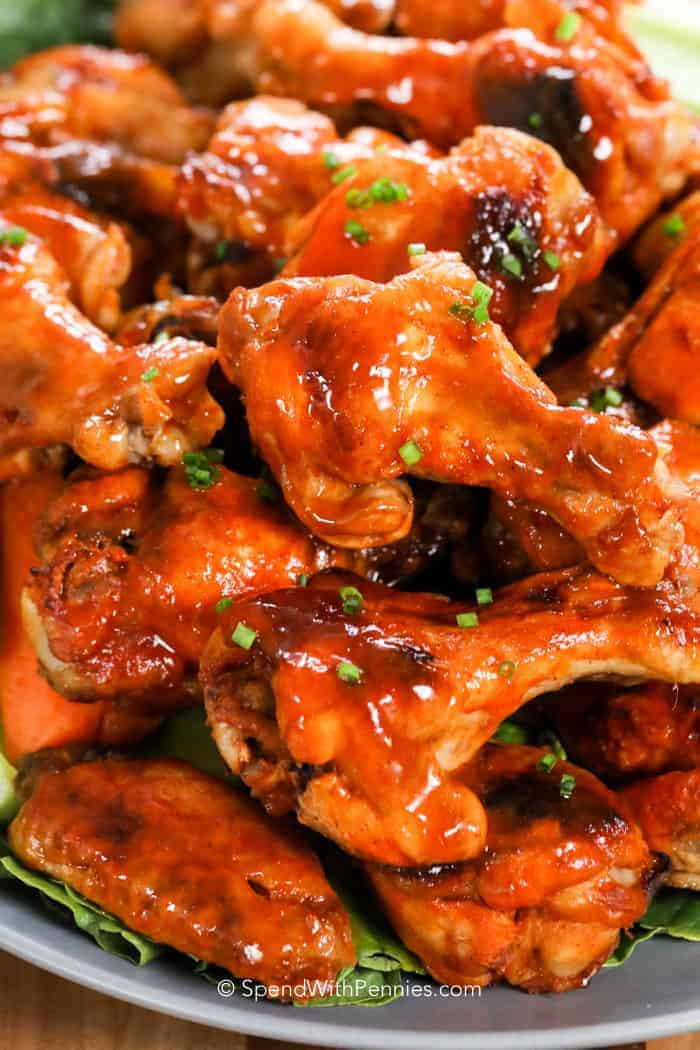 Crock Pot Chicken Wings on a plate