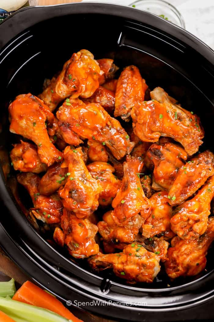 Crock Pot Chicken Wings with sauce