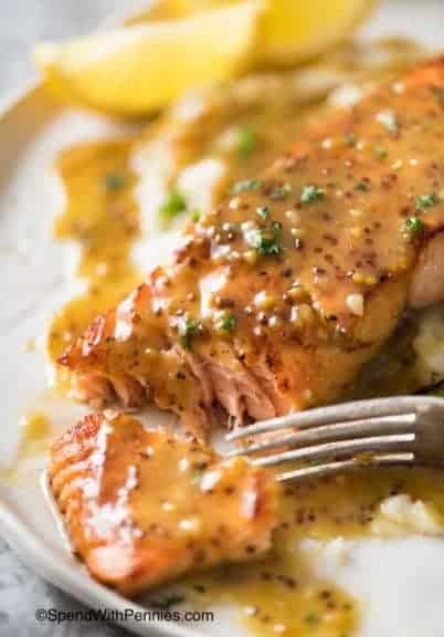This Honey Mustard Salmon is a life saver for busy weeknights!