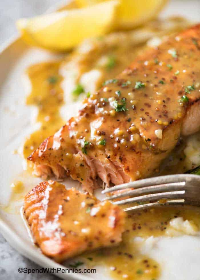 eb8e145b1bc2 This Honey Mustard Salmon is a life saver for busy weeknights!