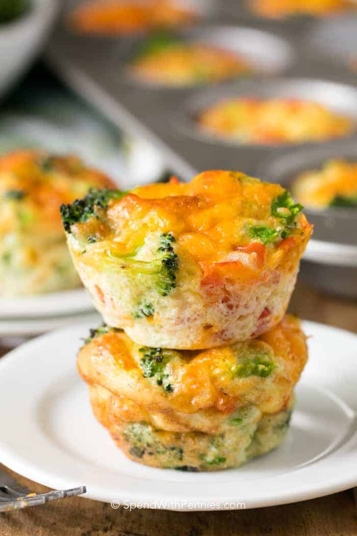 Veggie Egg Muffins served on a plate