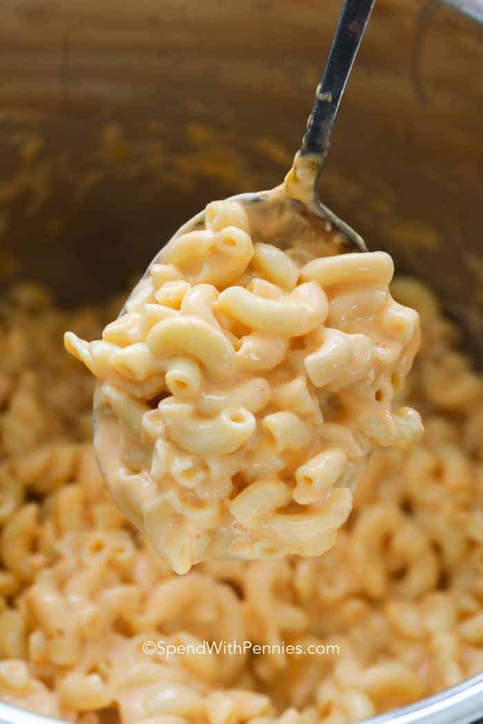 A heaping spoonful of Instant Pot Mac and Cheese