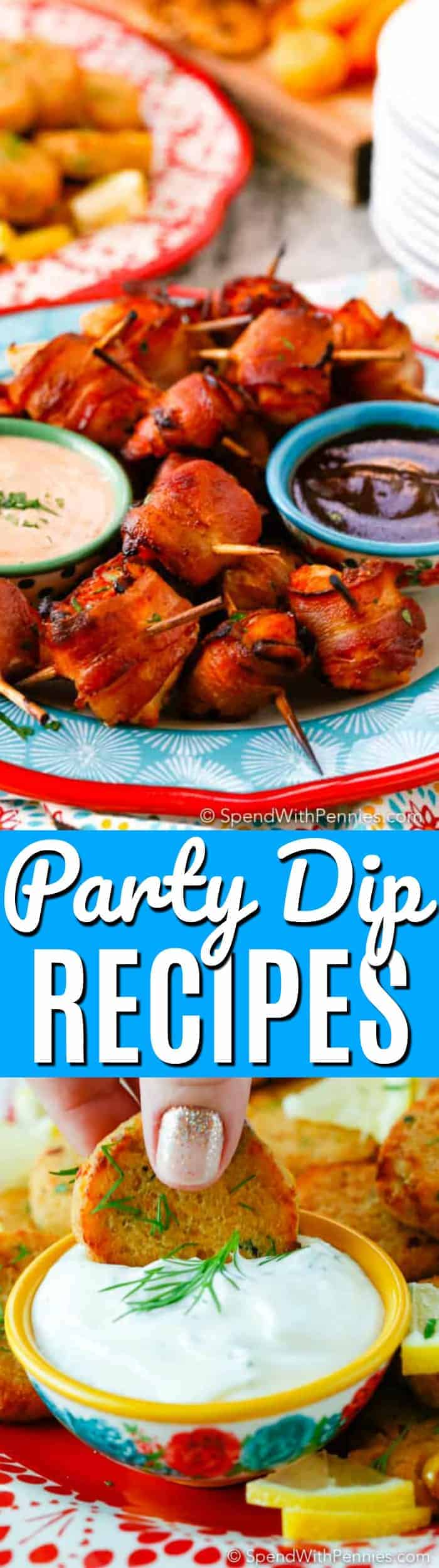 Easy Dip Recipes with a title