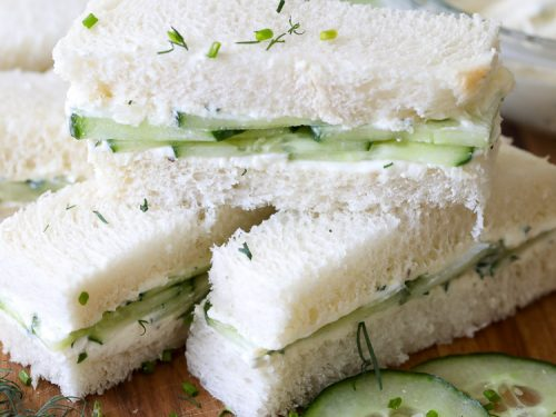 cucumber sandwiches spend with pennies