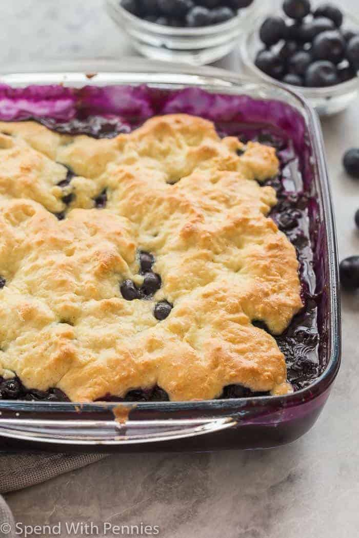 Blueberry cobbler recipe blueberry cobbler in glass pan forumfinder Gallery