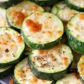 Pile of Baked Zucchini on a plate