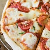 Slices of Margherita Pizza