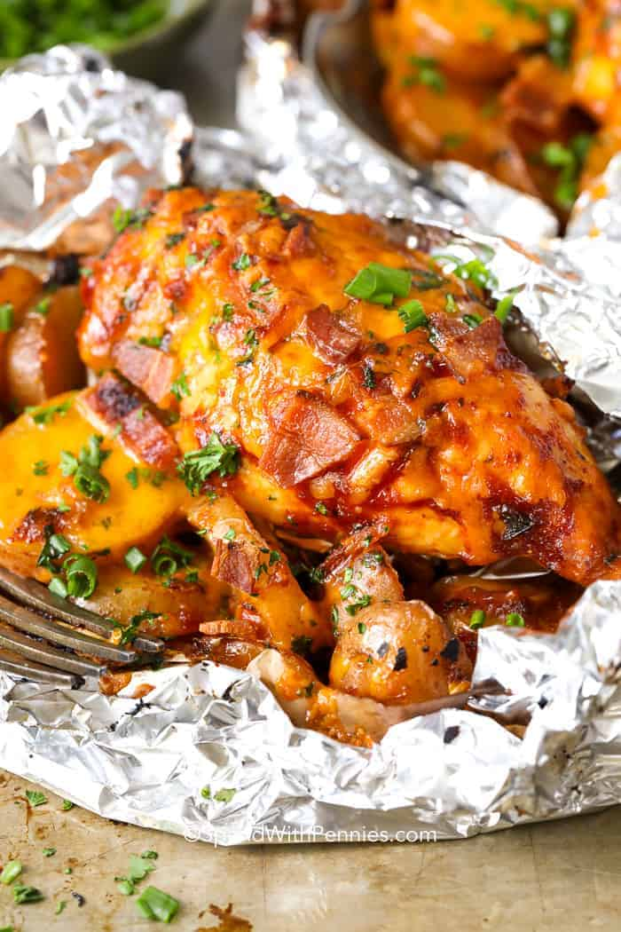 BBQ Bacon Cheddar Foil Packs