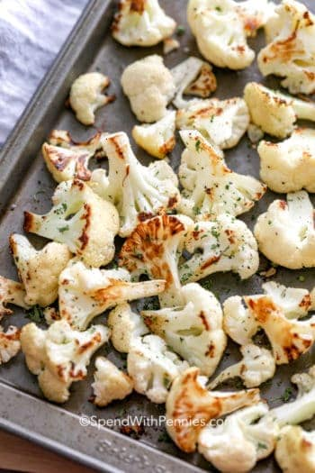 Sheet pan with Roasted Cauliflower