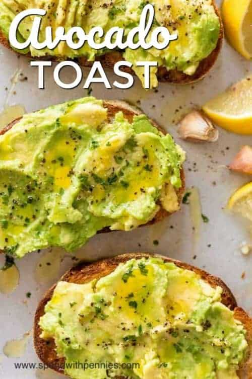 Avocado Toast with wording
