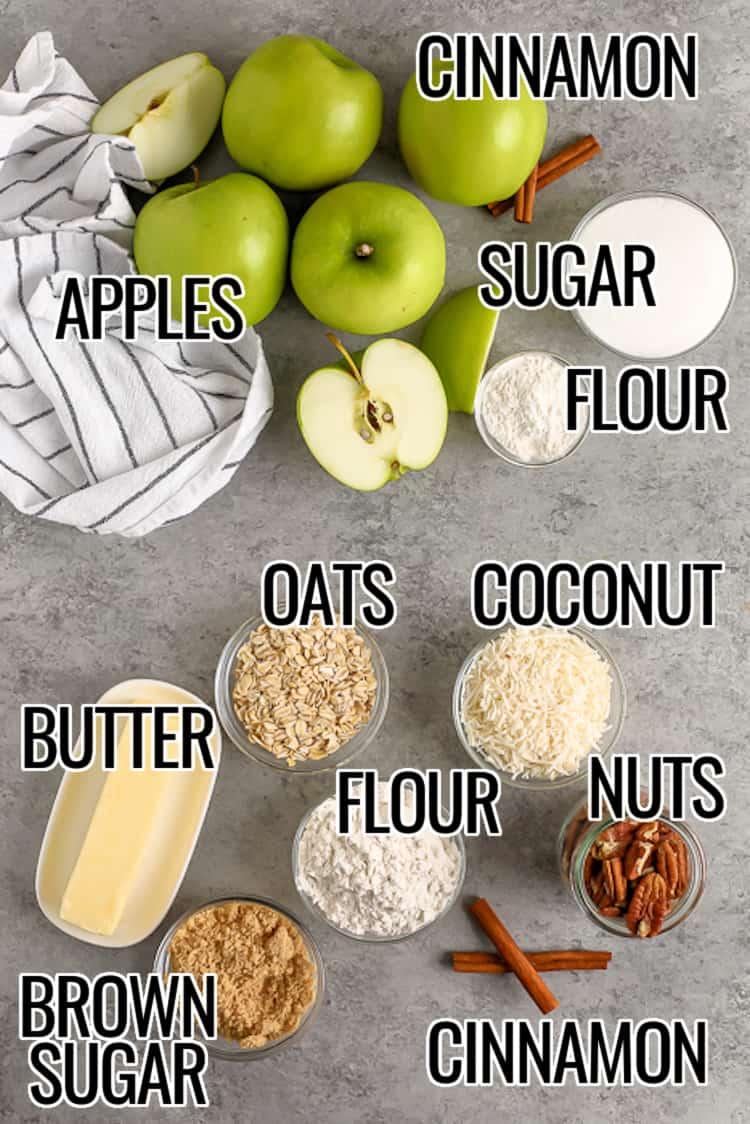 ingredients for apple crisp