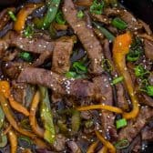 This delicious One Pan Pepper Steak recipe is a classic Chinese American dish, that you can easily make at home in just 30 minutes or less.