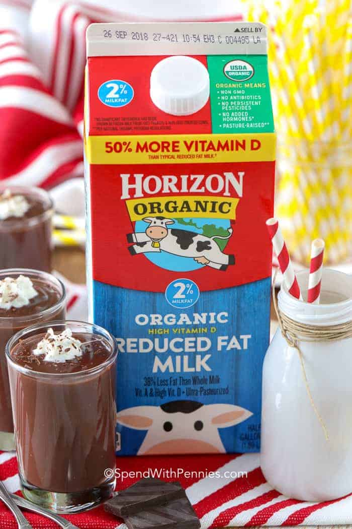 Chocolate Pudding Made with Horizon Organic Milk - Spend With Pennies