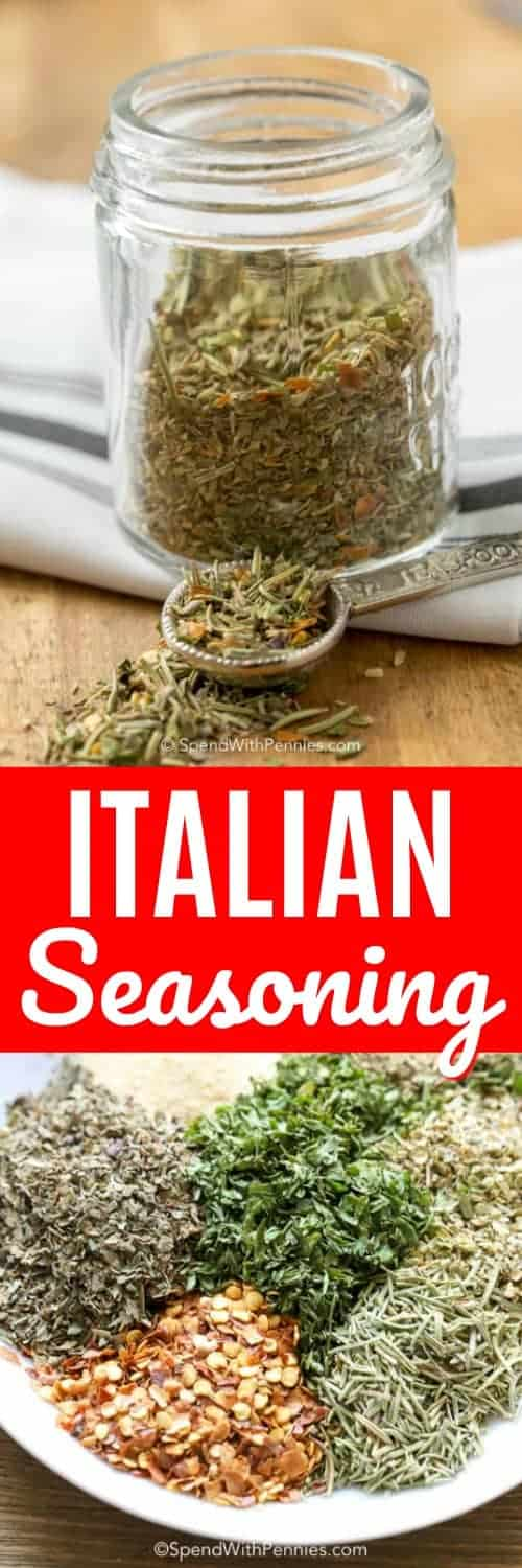Italian Seasoning is a blend of dried herbs and spices creating the perfect addition to your pasta sauces, marinades or your choice of chicken, beef or pork dishes! #spendwithpennies #Italianseasoning #Italianspices