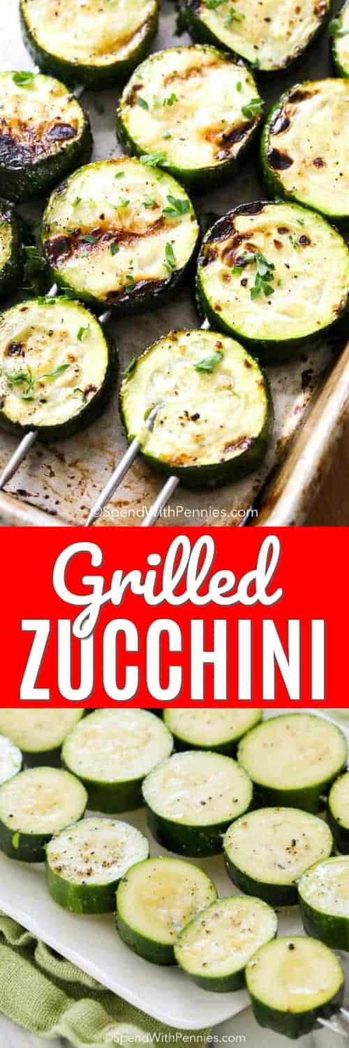 Grilled Zucchini is the perfect summer side to just about any meal! Light and flavorful zucchini slices are given the perfect grill and covered in lemon juice for a fresh and simple kick. #spendwithpennies #grilledzucchini #grilledvegetables #easyrecipe #easyside #freshrecipe