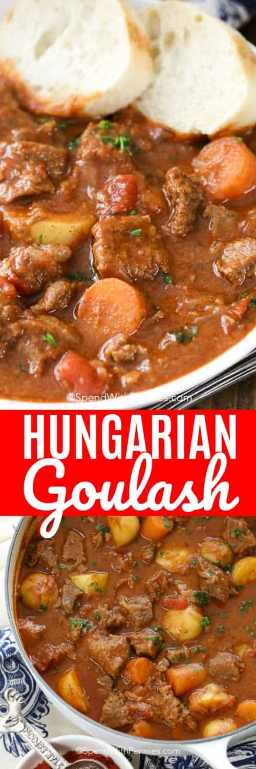 Hungarian goulash is the best comfort food you will make all winter. My house has never smelled better! #spendwithpennies #goulash #soup #stew #hungariangoulash #comfortfood
