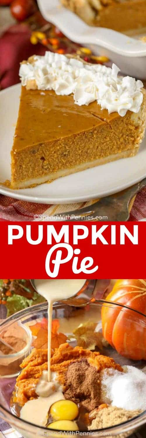 Pumpkin pie is one of our favorite holiday desserts, it is so rich and flavorful! #spendwithpennies #pumpkinpie #pie #pumpkin #pumpkinpiespice #thanksgiving