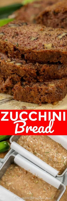 Zucchini Bread with a title