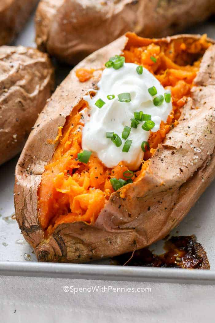 Baked Sweet Potato Sweet Or Savory Spend With Pennies