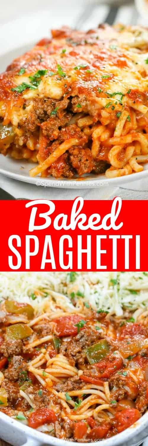 Baked Spaghetti with a title