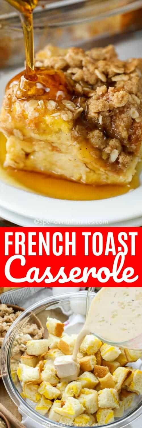 French Toast Casserole with a title