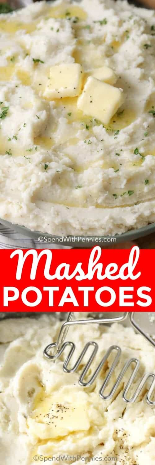 Mashed Potatoes with a title