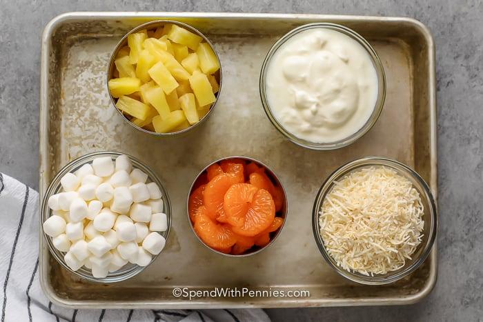 Ambrosia Salad Ingredients