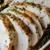 roasted turkey with herbs