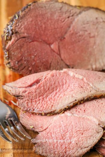 Sirloin Oven Roast sliced up close