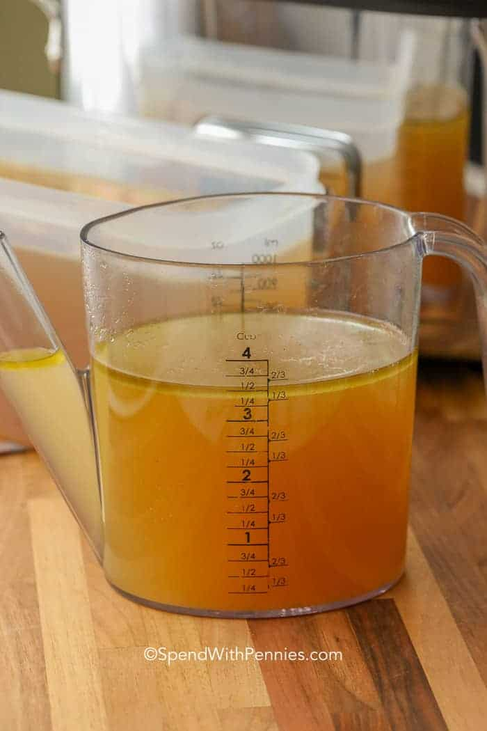 turkey broth measurements