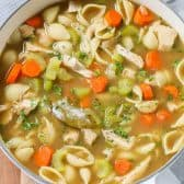 turkey soup in pot