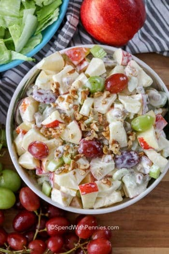 Overhead Waldorf Salad