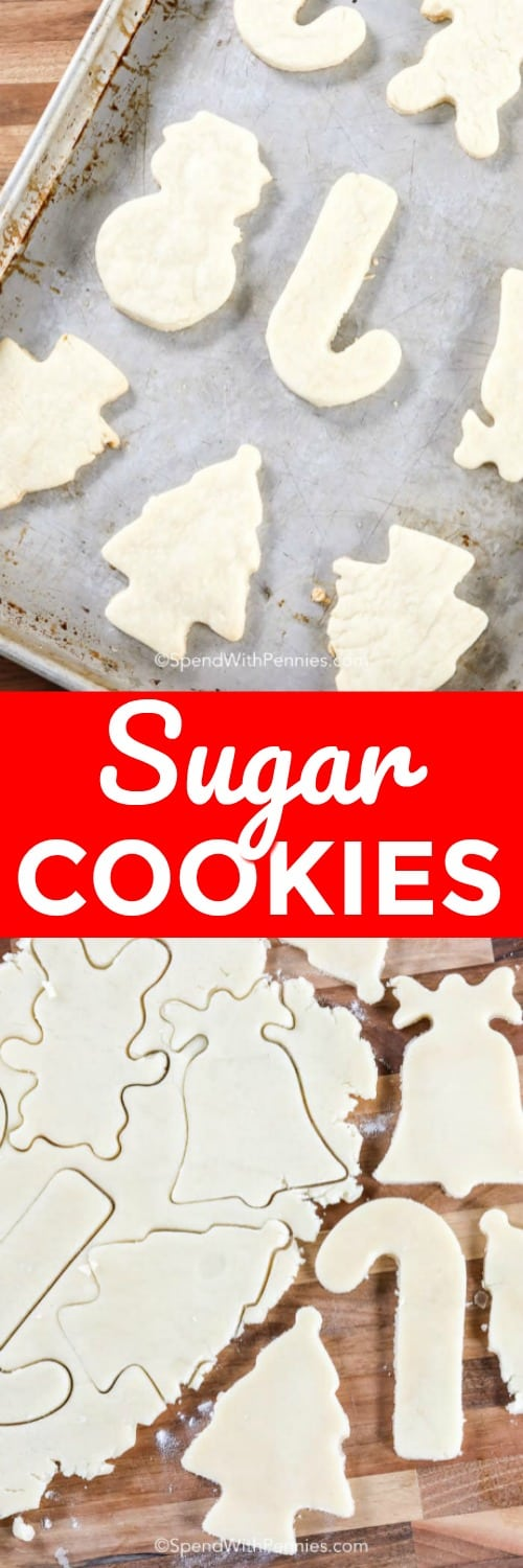Easy Sugar Cookies on a baking sheet