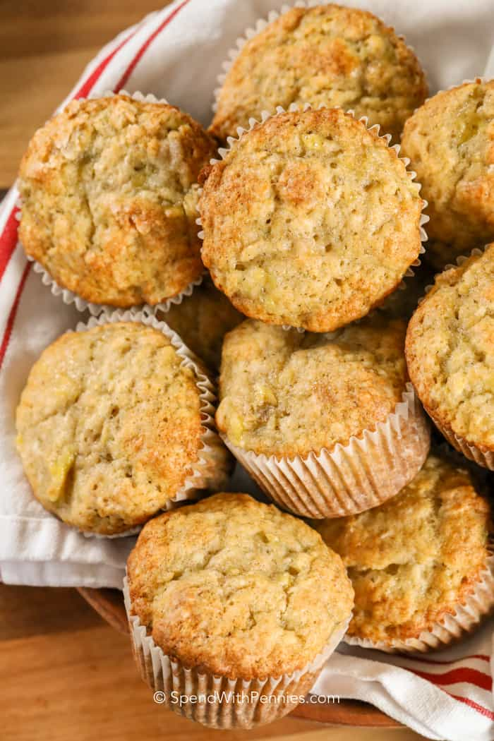Banana Muffins in a basket