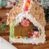 Gingerbread house used with Gingerbread House Icing