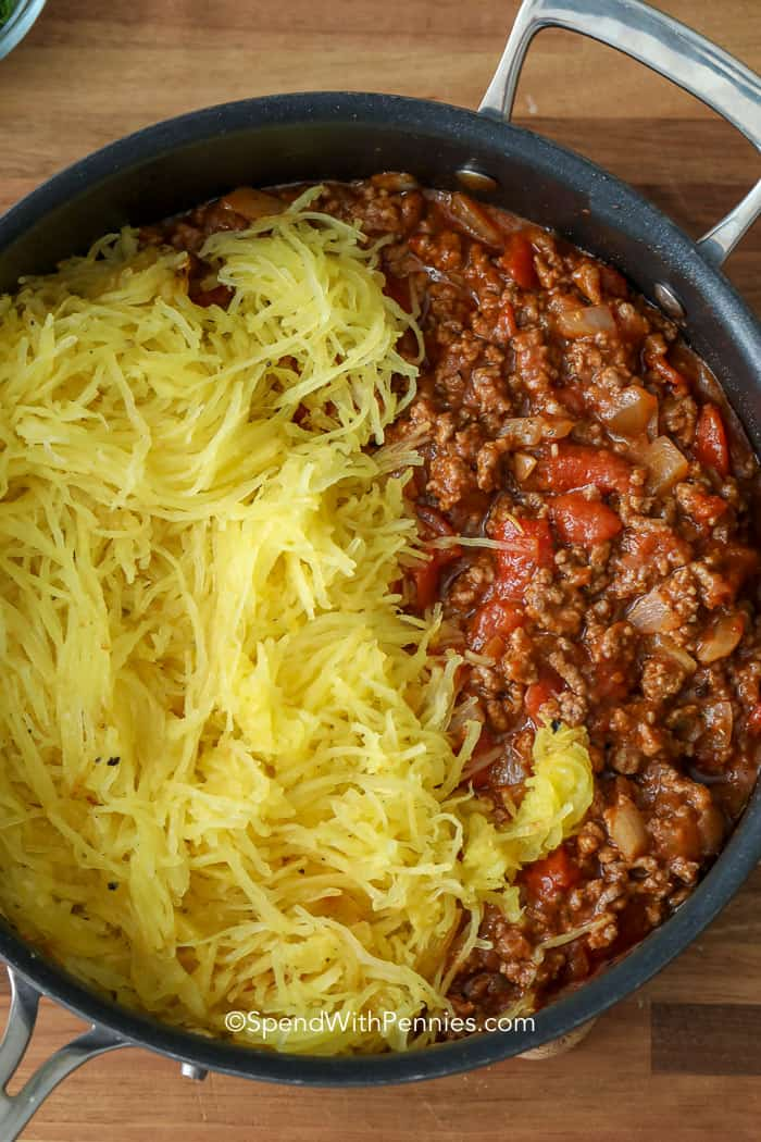 Ingredients for the best ever spaghetti squash casserole recipe