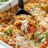 Spaghetti Squash Casserole on spoon