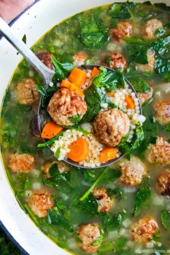 Ladle of Italian Wedding soup