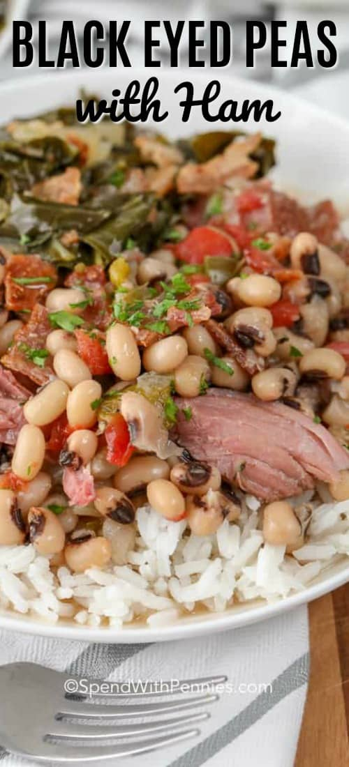 Black Eyed Peas with Ham and title