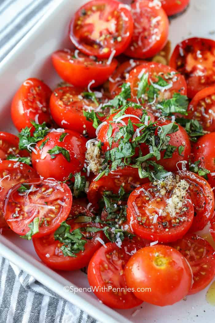 Oven Roasted Tomatoes with parsley