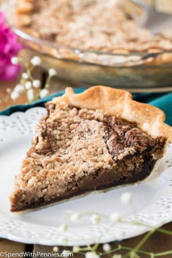 Best Shoofly Pie Recipe on a plate