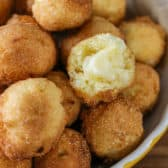 Hush Puppies in a yellow bowl